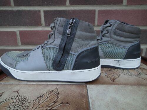 100 Designer Lanvin Trainers Hi Sneakers Size Authentic Grey 8 Textured Men Top PH6Tzzq