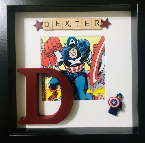Marvel Personalised 3D Box Frame Captain America