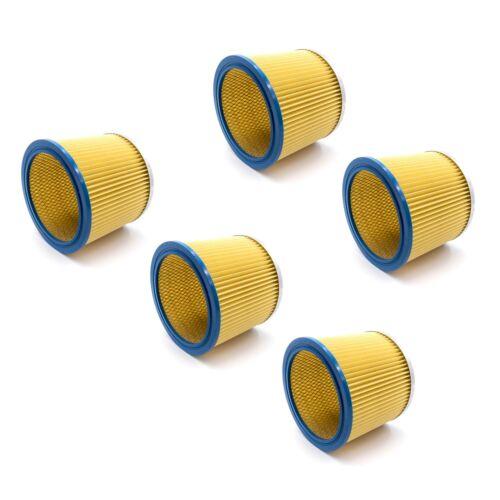 SM 30 SM 21 5x Rund-Filter Lamellenfilter gelb für Einhell SM 31 TH-VC 1820//1