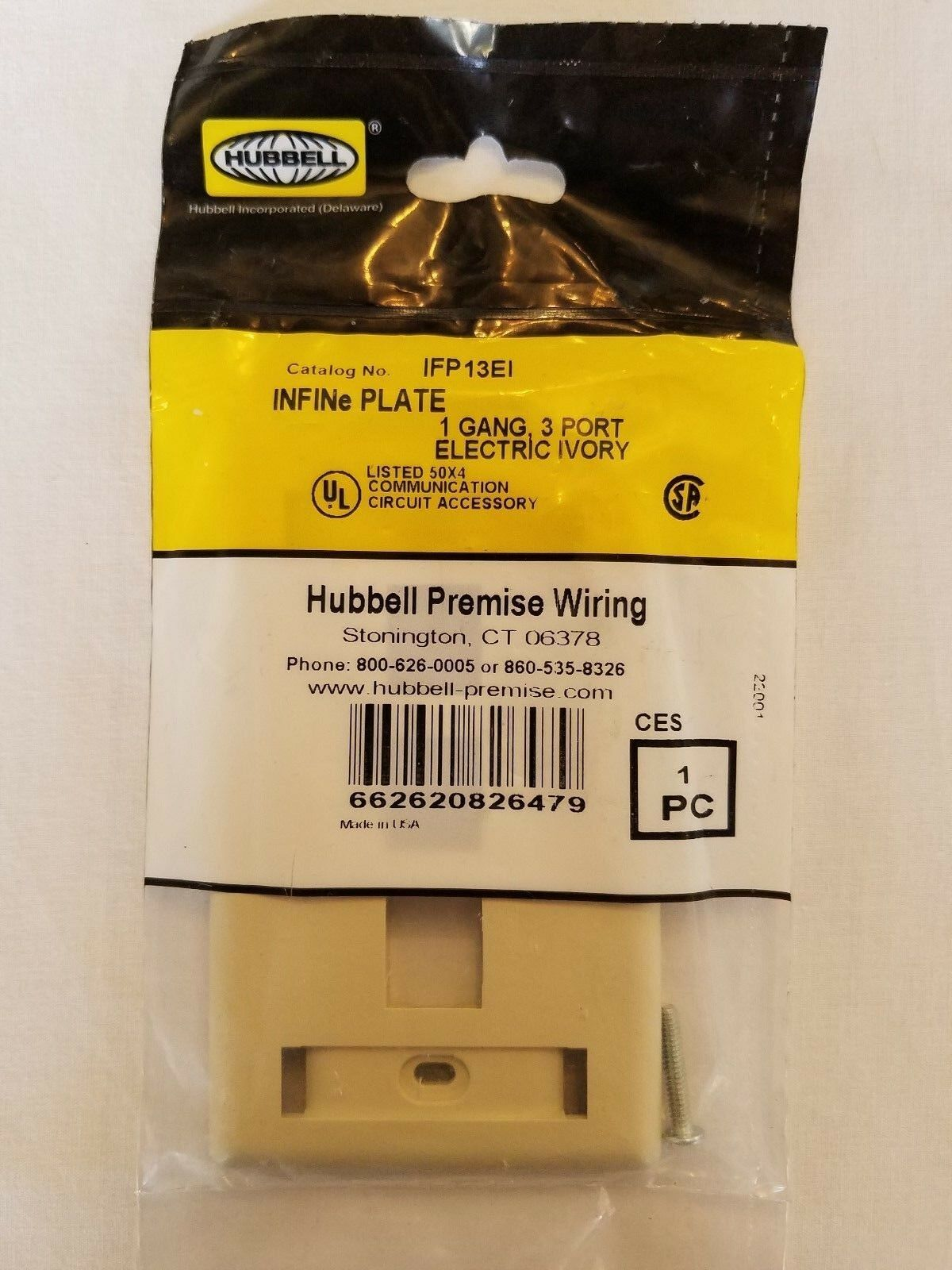 Hubbell Premise Wiring Ifp13ei Wall Plate 3 Port Ebay Catalog Norton Secured Powered By Verisign