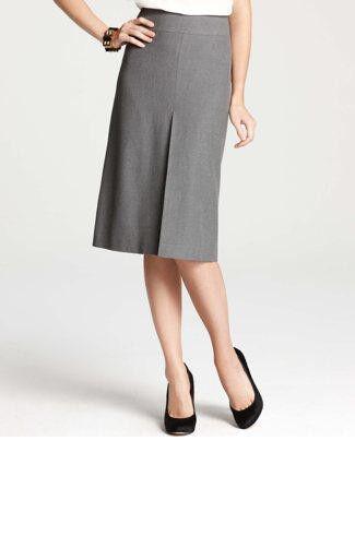 Ann Taylor Sorrel Boot Skirt Size 4 Regular NWT Grey color