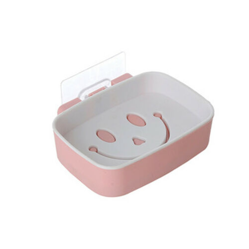 Creative Smile Pattern Bathroom Simple Style Adsortable Soap Dish Kitchen Rack