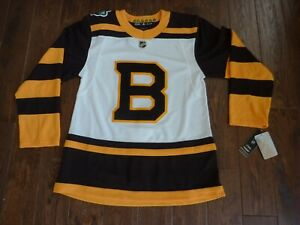 the best attitude be146 e5ad3 Details about NWT AUTHENTIC 2019 Winter Classic BOSTON BRUINS Authentic NHL  Hockey Jersey 46