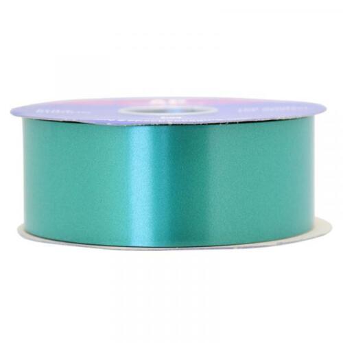 90m APAC Emerald Green Poly Ribbon 2inch//48mm Craft Gift Wedding Car Venue 6m