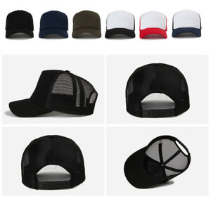 66ce2b68098 Unisex Mens Womens Plain Blank Solid Color Summer Mesh Baseball Cap ...