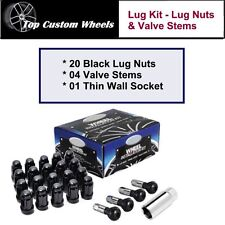 C1709BL-34 Wheel Lug Kit Black Lug Nuts M14x1.5 fit Dodge Challenger 08-17