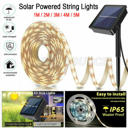 Solarbetriebene Lichtleiste SMD 2835 LED Lichtband Stripe Beleuchtung 8Mode 1~5m