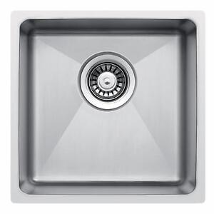 440 x 440mm Undermount/Inset Deep Single Bowl Stainless Steel ...