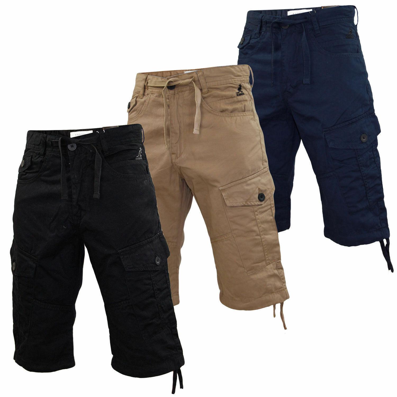 Kangol Cargo Shorts für Männer Bermuda Freizeit Knielang Chino Mehrfarbig 30-54