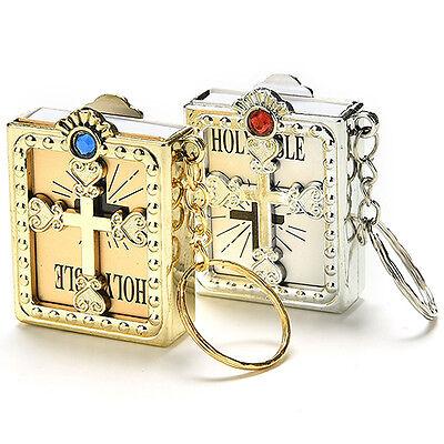 Mini Holy Bible Miniature Paper Christian Jesus Keychain Keyring Biggest-Selling