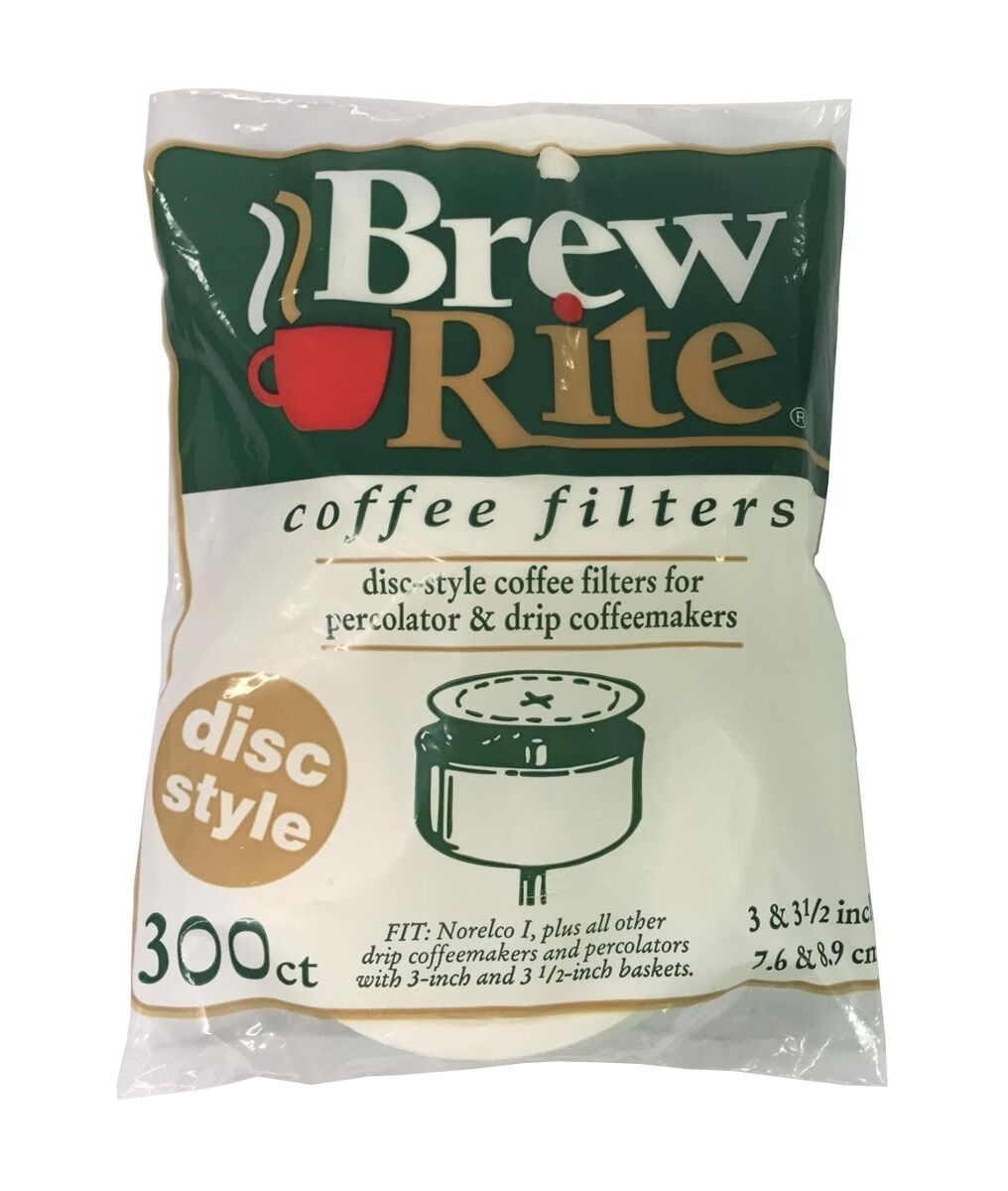 """Disc Coffee Filter for 3 and 3.5"""" Percolator 300 Count"""