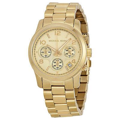 Michael Kors Midsized Chronograph Gold-tone Unisex Watch MK5055