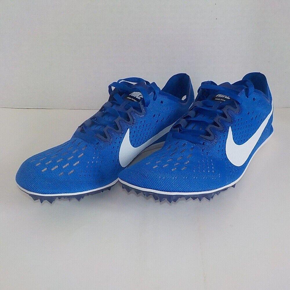 Nike VICTORY 3 Distance Running Blau Weiß 835997 411 Größe 8 Spikes SRT & Bag