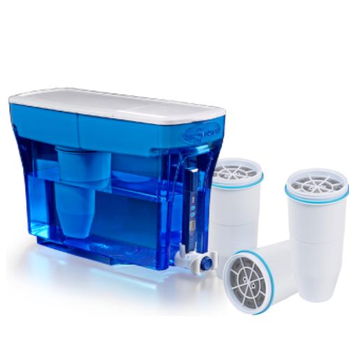 Zerowater 23 Tasse Distributeur avec trois filtres