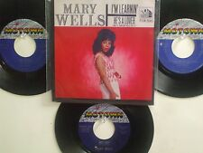 LOT OF 4 ' MARY WELLS ' HIT 45's+1P(Copy)[I'm Learnin'/He's A Lover]   THE 60's!
