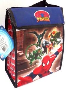 Marvel-Ultimate-Spider-man-Boy-039-s-Insulated-Lunch-Bag-W-Handle-10-034-x-8-034-x-4-034