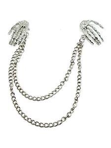 Revers-Collier-Chaine-Cou-Pointe-Argent-Epingle-Chaine-Pendants-OS-Hands-Bijoux