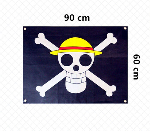 Large Size One Piece Flag Straw Hat Skull Pirate Going Merry Logo Luffy Cosplay