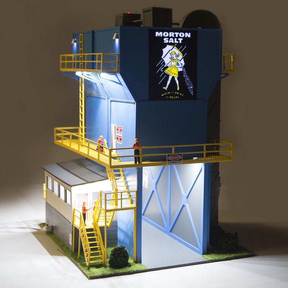 Menards O Gauge Morton Salt Factory Model for use w  Lionel, etc. Train Sets