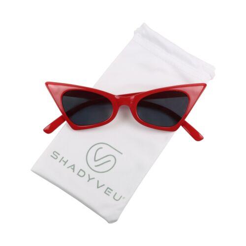 Small Retro Pointed Vintage Frame Triangle Cat Eye Pointy Sunglasses ShadyVEU