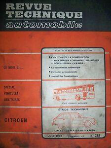 CitroËn Ami 8 & 6 Ak-b - Revue Technique Automobile (vw Coccinelle Honda N400)