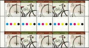 2015-AUSTRALIA-BICYCLES-70c-GUTTER-STRIP-10-MNH