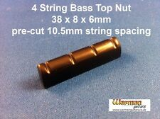 Black Bass guitar Top Nut / Bridge 38x8x6mm - 95p P&P