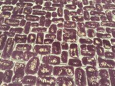 Clarke & Clarke Metallic Geometric Velvet Upholstery Fabric Moda Damson 4.75 yd