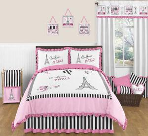 Image Is Loading Sweet Jojo Designs Pink Amp Black Paris France