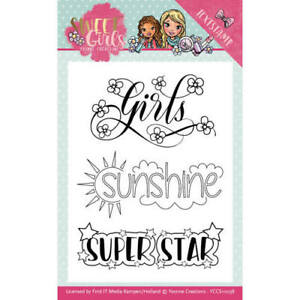 Yvonne-Creations-clear-stamps-SET-Sweet-Girls-YCCS10038-Spruchstempel