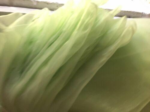 green 280cm super wide organza fabric wedding curtain drape decoration voile