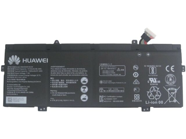 Genuine Huawei MateBook X PRO MACH-W29 Battery 56.3Wh 7.6V HB4593R1ECW