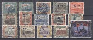 Saargebiet-Mi-Nr-70-83-Freimarken-1921-gestempelt-27256