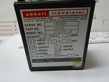 C10AYE1-8 ABBOTT  POWER SUPPLY INPUT 24-30 VDC/OUT 10 VDC-1.8 AMP NEW OLD STOCK