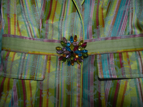 Small Buttons Buckle S Colored Jacket Cynthia Rhinestone Og Steffe Multi xqW87O4