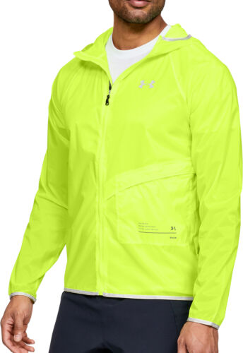 Yellow Under Armour Qualifier Storm Packable Mens Running Jacket