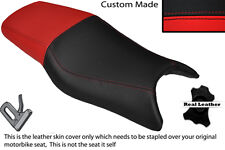 RED & BLACK CUSTOM FITS HONDA CBR 600 F 97-98 DUAL LEATHER SEAT COVER