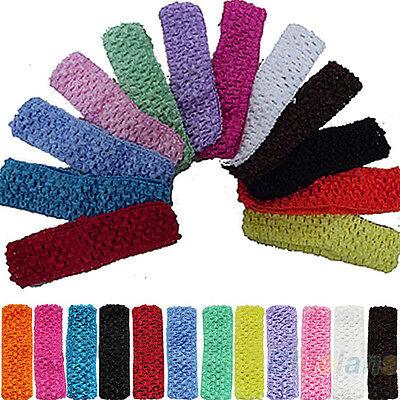 """1.5"""" Crochet Headbands Braid Hair Bow Headdress 12pcs For Kid Baby Toddler Gift"""