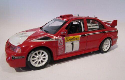 Mitsubishi Lancer evolution VI Makinem 1999 Ixo 1//43 Rallye Monte Carlo