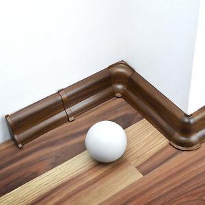 2,5m Fussleisten 62mm Sockelleisten PVC Sockelleiste Kabelkanal Kunstoff Laminat
