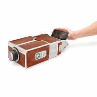 Portable DIY Cardboard Smart Phone Projector Mini Mobile Phone Cinema Toy Gift