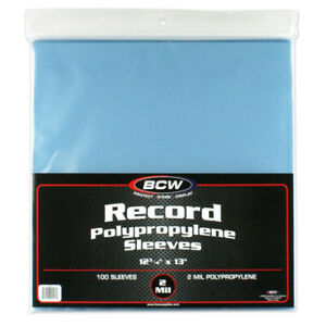 500-BCW-33-RPM-LP-Record-Vinyl-Album-Plastic-Outer-Sleeves-Covers-2-MIL