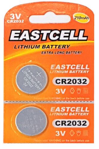 EAST ☀️☀️☀️☀️☀ 2 x CR2032 3V Lithium Batterie 210 mAh 1 Cards a 2 Batterien
