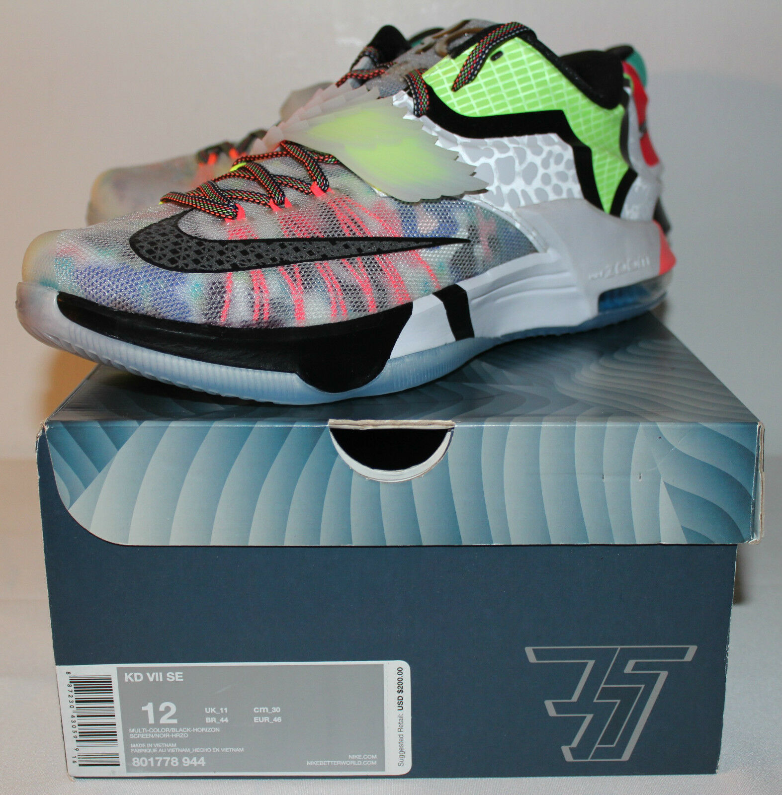 Nike Air KD KD KD 7 VI What the Kevin Durant Multi Color Baskets Hommes 5c3d9e