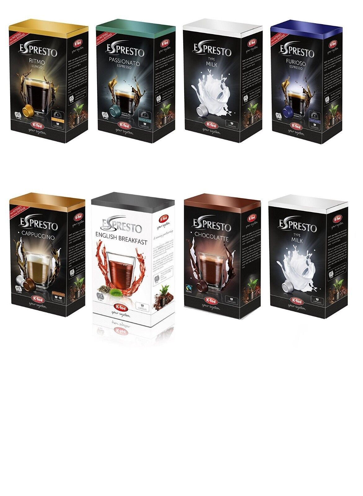Details About Starbucks Verismo Tesco Podpronto K Fee Espresto Capsules Pods All Flavours