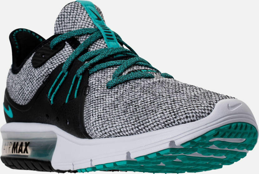 Men's Nike Air Max Sequent 3 Running shoes Black   Jade   White 9.5 921694 100