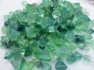 1-lb-Beautiful-Green-Fluorite-Octahedron-Crystals-LARGE-Bulk-Lot-10-20mm