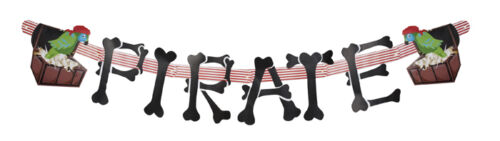 1.8M Long 6Ft Large Pirate Letter Banner Party Decoration New /& Sealed