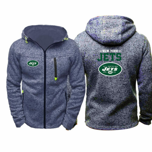 Newest The New York Jets Fans Hoodie Sporty Jacket Sweater Coat Autumn Tops