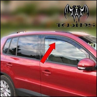 Set de 4 Déflecteurs de vent pluie air teintées VW Tiguan 2007-2016